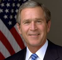 endorsement by george bush to help with prison church building